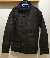 Firetrap Black Wax Cotton Coat Size XL Mens