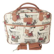 """Tapestry Signare Laptop Bag """"Terrier Dog"""" Computer Bag Briefcase Shoulder Strap"""