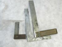 Lot of Three Vintage Squares Woodworking Square Try Square Right Angle Square
