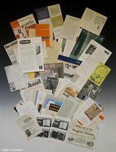 Konvolut 72 x Reklameprospekte von Büchern um 1955-60