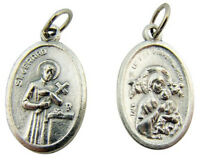 Saint Gerard with Our Lady of Perpetual Help 1-inch Silver Base Medal