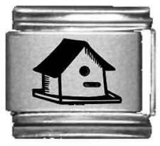 Clearly Charming Bird House Laser Italian Charm