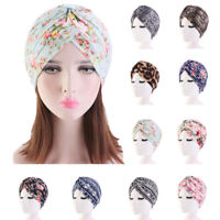 Women Indian Turban Floral Cap Cancer Chemo Hat Cover Muslim Hijab Head Wrap
