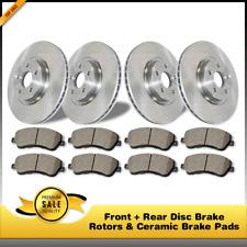 Front + Rear Disc Brake Rotors & Ceramic Pads 6PCS For Hummer H3 Hummer H3T