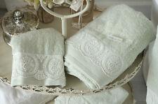 Gästetuch Handtuch Set Frottee Mint Bad Badezimmer Shabby Landhaus