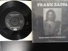 FRANK ZAPPA BABY TAKE YOUR TEETH OUT STEVIE'S SPANKING 45 RECORD- 8C5