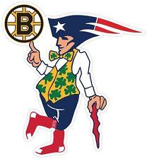 Boston Guy Sport Teams Fan Logo Mash Up Vinyl Sticker Decal