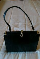 Vintage Black Lizard/Snake skin/leather with snap closure Purse