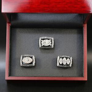 3pcs Oakland Raiders Los Angeles Raiders Super Bowl Championship Ring Set w Box