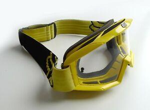 Fox Racing Main MTB MX Goggles, Mountain Bike, Moto, DH Clear Lens, Yellow Frame