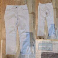 Women's PER UNA Jeans Size 14 Short 14S Length 27'' Beige M&S Denim Trousers