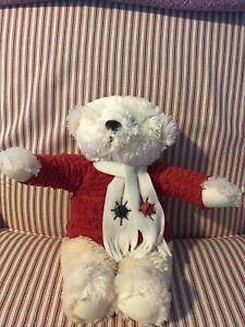 "HALLMARK Plush ~15"" Jingle Bell Bear - So Cute And Soft!!"