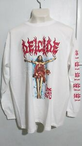 Deicide once upon cross long sleeve T shirt death metal morbid angel incantation