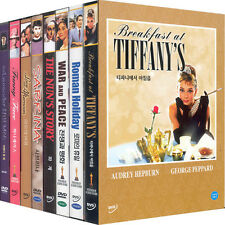 Audrey Hepburn Collection(8DVD,All,New)Roman Holiday,WarandPeace,The Nun's Story