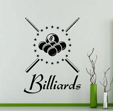 Billiard Wall Decal Vinyl Billiards Sports Pool Sticker Decor Home Mural(2bi)