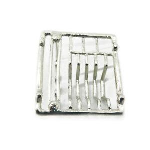Dollhouse Metal Dish Rack Drainer Basket 1:12 Miniature Sink Accessories Silver