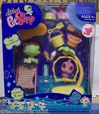 Littlest Pet Shop Portable Pets Turtle and Parrot #922-923