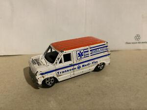 1981 ERTL The Cannonball Run Ford Van Ambulance 1/64 made in Hong Kong