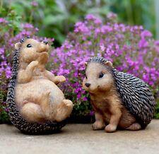 Set of 2 Hedgehog Garden Animal Ornaments
