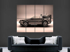 DELOREAN DMC 12 BACK TO FUTURE CAR  POSTER WALL ART PICTURE  LARGE GIANT