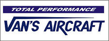 A184 Vans Aircraft Total Performance Airplane banner hangar garage decor signs