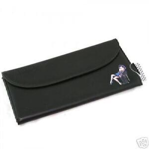 Bettie Page BLACK CLUTCH BAG handbag RETRO WITH MIRROR