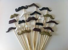 20PCS Photo Booth Props For Wedding/Party POLYMER CLAY Moustache on a stick