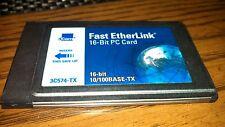 3C574-TX 3COM 10/100 FAST 16BIT PC CARD 3C574TX W/NEW DONGLE