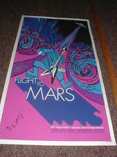 2005 Mike McCready AUTOGRAPH Concert Gig Poster FLIGHT TO MARS Pearl Jam Klausen