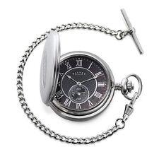 Dalvey Full Hunter Pocket Watch - Black Mother of Pearl - Steel
