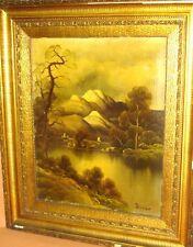 """Becker """"Landschaft"""", Öl/Leinen, Goldrahmen   169/13008"""