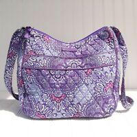 Vera Bradley Women's Purple Lilac Paisley Floral Crossbody Shoulder Bag Purse
