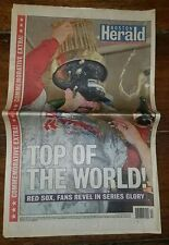 The Boston Herald-Red Sox Victory-Oct.28,2004-Mint Copy-Complete Paper