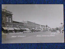 Belleville KS/Main Street/3 Drug Stores/1940s Cars/EKC Stamp Box RPPC/Unposted