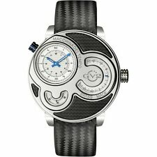 GV2 by Gevril Men's 8301 Macchina Del Tempo Limited Edition Black Leather Watch