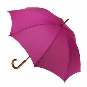 Manual Wood Umbrella Fuschia