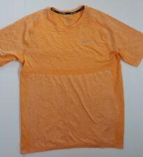 Men's Nike Dri Fit Running Shirt Light Orange Size XL