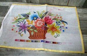 Elsa Williams Floral Kit, Bucilla Counted Cross Stitch, needlepoint kits