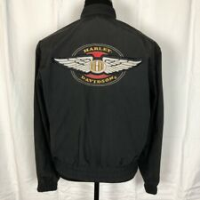 Harley Davidson Motor Clothes Long Sleeve Full Zip Jacket Size Small Made in USA