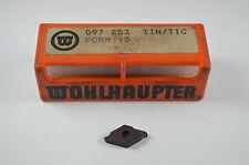 Wendeschneidplatten, WOHLHAUPTER  097 253  TIN/TIC, FROM 90,10Stück, RHV3198,