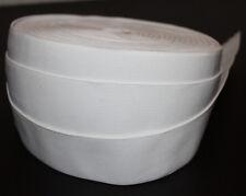 1 m Gummiband 50 mm 5 cm Weiss hohe Zugkraft gewebt Rock Kleid Gürtel