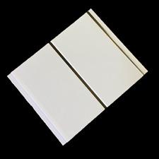 10 Gloss White Chrome Bathroom PVC Cladding Plastic Shower Wet Wall