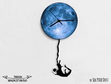Spiderman Swinging on the Moon 2- Pendulum Wall Clock