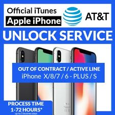 APPLE IPHONE X 8 7+ 7 6S+ 6S 6+ 6 5S 5C 5 4S 4 AT&T ACTIVE IMEI UNLOCK SERVICE