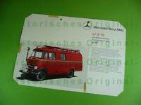 Alter Prospekt: Mercedes-Benz-Metz LF 8-TS mit Seitenbeladung; Feuerwehr
