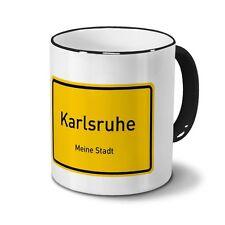 Städtetasse Karlsruhe - Design Ortsschild