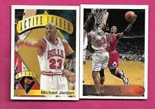 1995 AND 1996 TOPPS BULLS MICHAEL JORDAN NRMT-MT  CARD (INV# C3377)