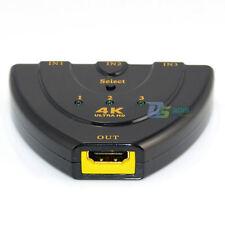 3 port hdmi switch switcher spliter spllitter cable HUB for PS3 Xbox 360 UK