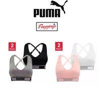 SALE! Women's Puma Medium Impact Seamless Sports Bra 2 Pack VARIETY SZ/CLR C42