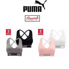 SALE! Women's Puma Medium Impact Seamless Sports Bra 2 Pack VARIETY SZ/CLR C43